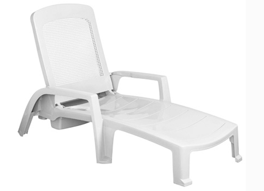 Madrass Outdoor 2. Madras White Chaise Lounge