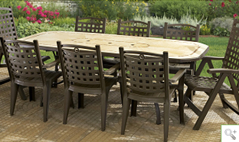 Pleasant Patio And Deck Furniture Grosfillex Short Links Chair Design For Home Short Linksinfo