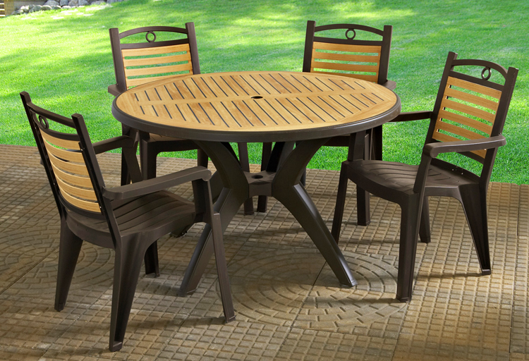 Patio and deck furniture grosfillex Cheap plastic patio furniture